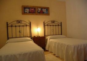 Dormitorio doble azul