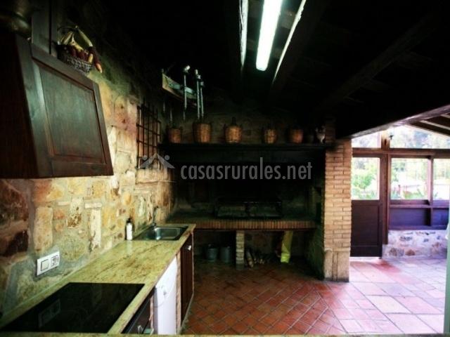 Cocina de sala externa