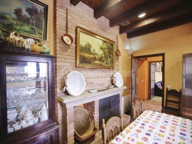 Parte posterior de la cocina