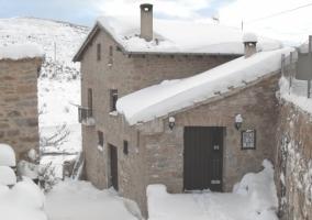 La fachada nevada