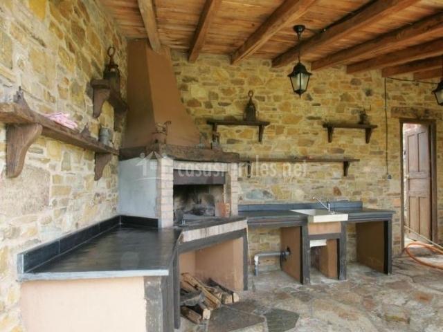 Vistas de la zona de la cocina campera