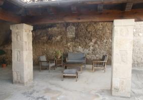 El porche de la casa