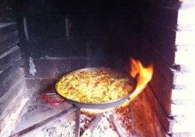 Paella barbacoa