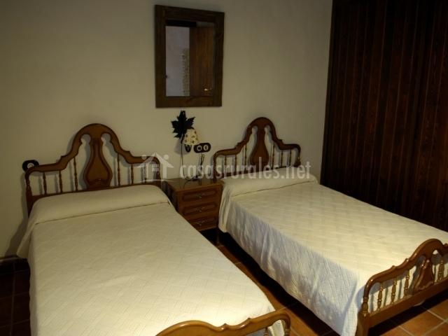 Dormitorio para 2 personas individuales