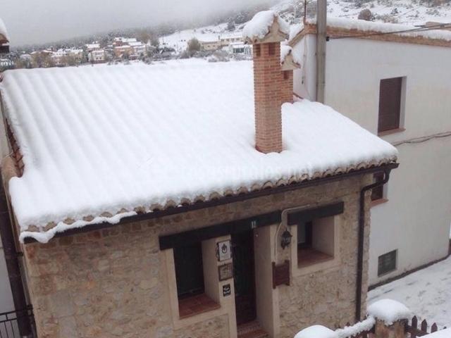 Fachada de la Casa Rural nevada