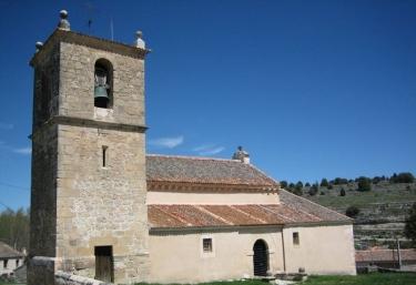 Zona del municipio con iglesia