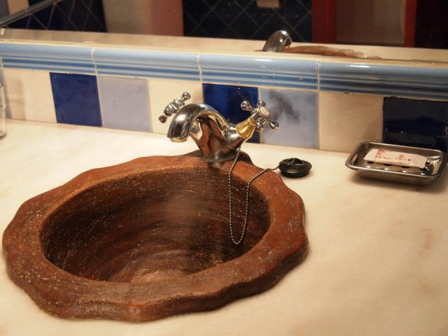 Lavabo de barro