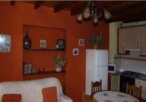 Salón cocina y comedor de la casa