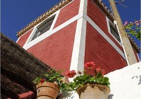 Vistas de la decoración de la fachada