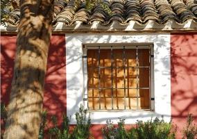 Vistas de la ventana con fachada