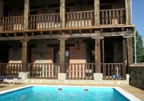 Vistas a la piscina desde las habitaciones