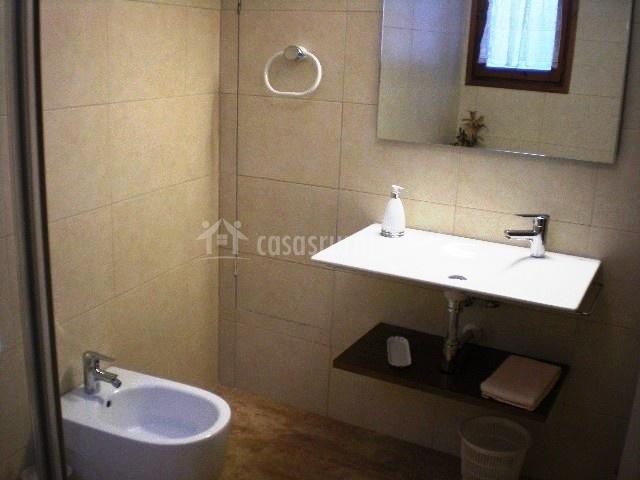 Cuarto de baño. Aseo y lavabo