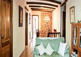 Terraza con muebles de jardín