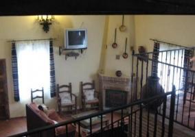 Vista del salón desde la planta superior