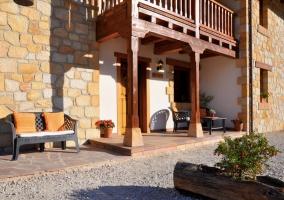 Porches amueblados con sillones