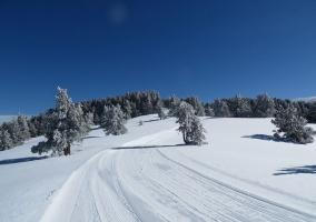 Pistas de nieve en el Pirineo