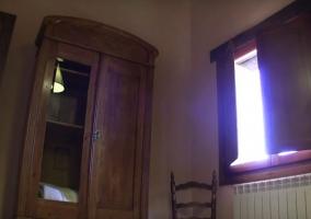 Dormitorio doble y armario