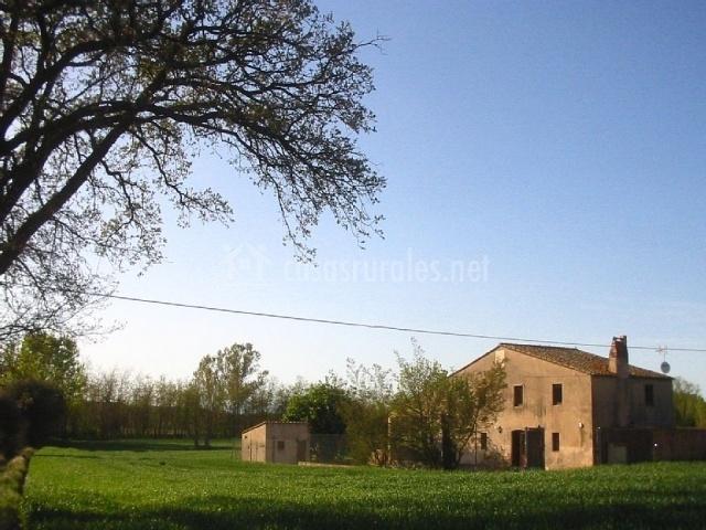 La Casa Rural con el césped