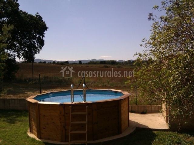 La piscina portátil de la casa