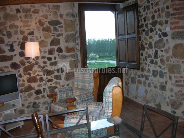 Salón con entrada desde terraza
