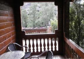 Vistas de la terraza con abierta al resto del entorno