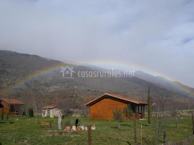 El rinco del Jerte con arco iris