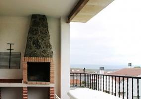 Barbacoa en terraza