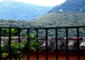 Vista de la sierra desde el balcón