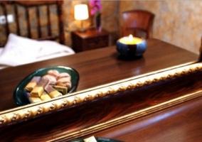 Dormitorio de matrimonio con mostrador