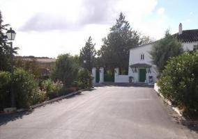 Vistas del camino de acceso a la casa