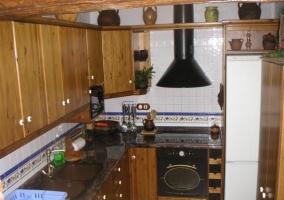Vista elevada de la cocina