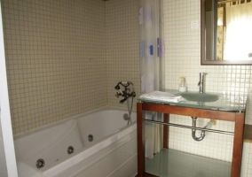 Cuarto de baño en el dormitorio