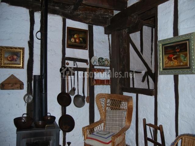 Interior de la casa de la judería museo de la historia local de Candeleda