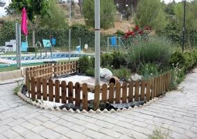 Decoración de los jardines