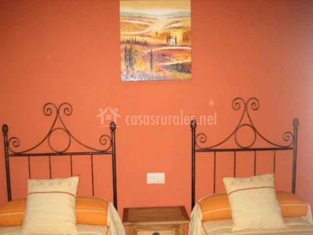 Casilla dormitorio doble naranja
