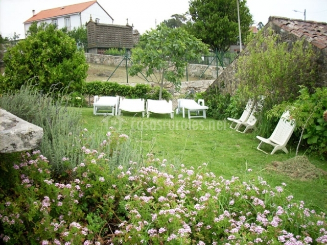 Casa dos ballotes i en rianxo a coru a for Arboles frutales para jardin