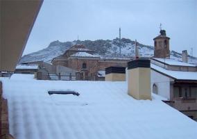 Vistas al exterior con todo nevado