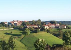 Zona del pueblo donde se encuentra la casa rural