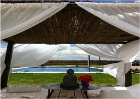 Detalle de la piscina para relajarse