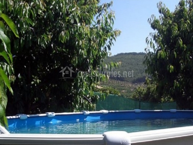 Casa de madera mirador los cotos casas rurales en for Alojamiento con piscina
