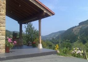 Valle visto desde el porche