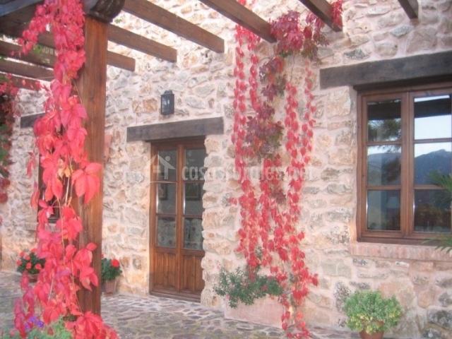 puerta desde el porche