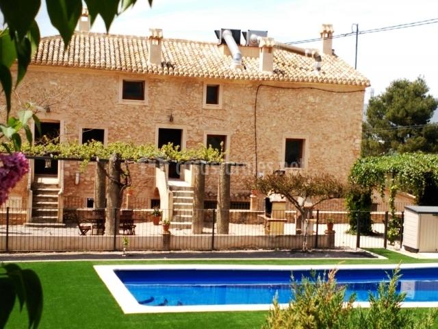 Apartamento 1 la alquer a del pilar en banyeres de mariola alicante - Alojamiento rural con piscina ...
