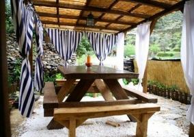 Jardín y zona de relax