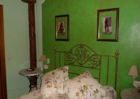 Dormitorio doble con cama individuales