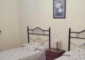 Cuarto doble con camas individuales