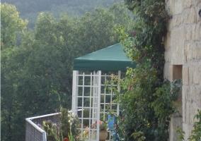Equipamiento del jardín con pérgola