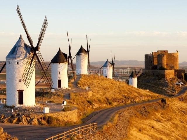 Hotel rural la vida de antes en consuegra toledo for Piscina molino de viento y sombrilla