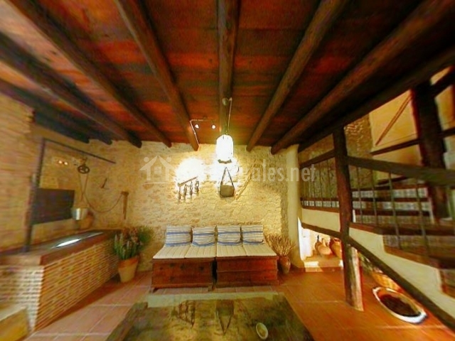 Casa la rafela casas rurales en san jorge castell n - Muebles salita de estar ...