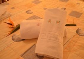 Detalle de toallas dobladas